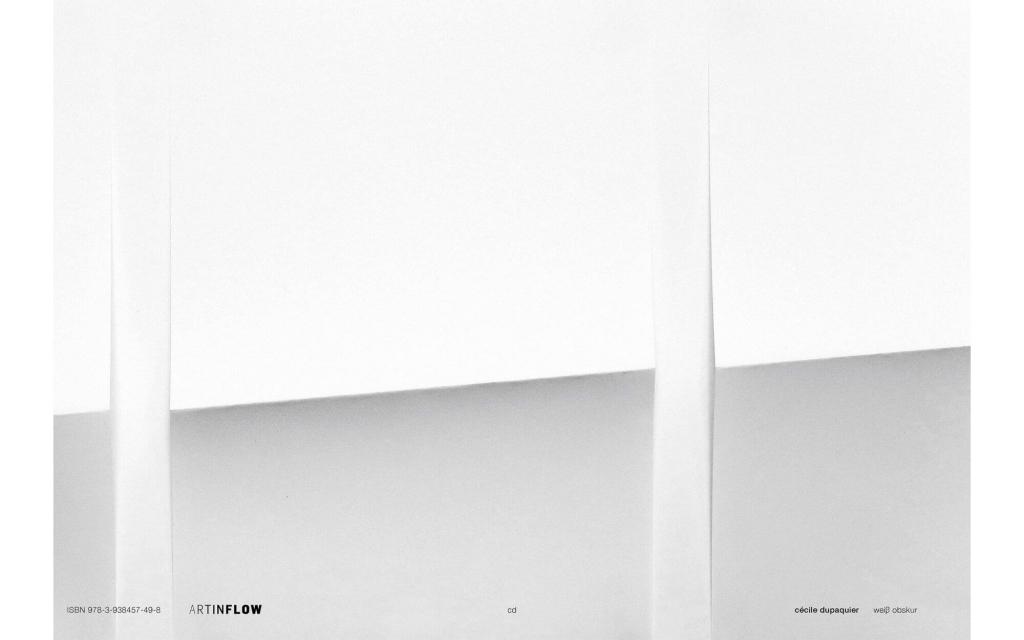 Umschlag: Cécile Dupaquier - weiß obskur