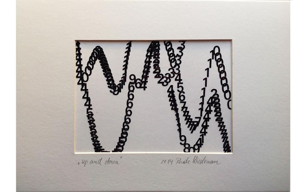 Renate Wiedemann Edition: »up and down«, Originalgrafik