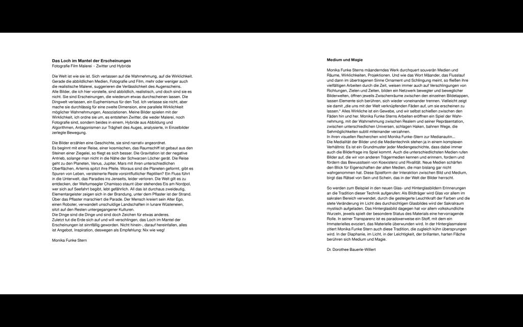 Seitenansicht: Monika Funke Stern: Das Loch im Mantel der Erscheinungen