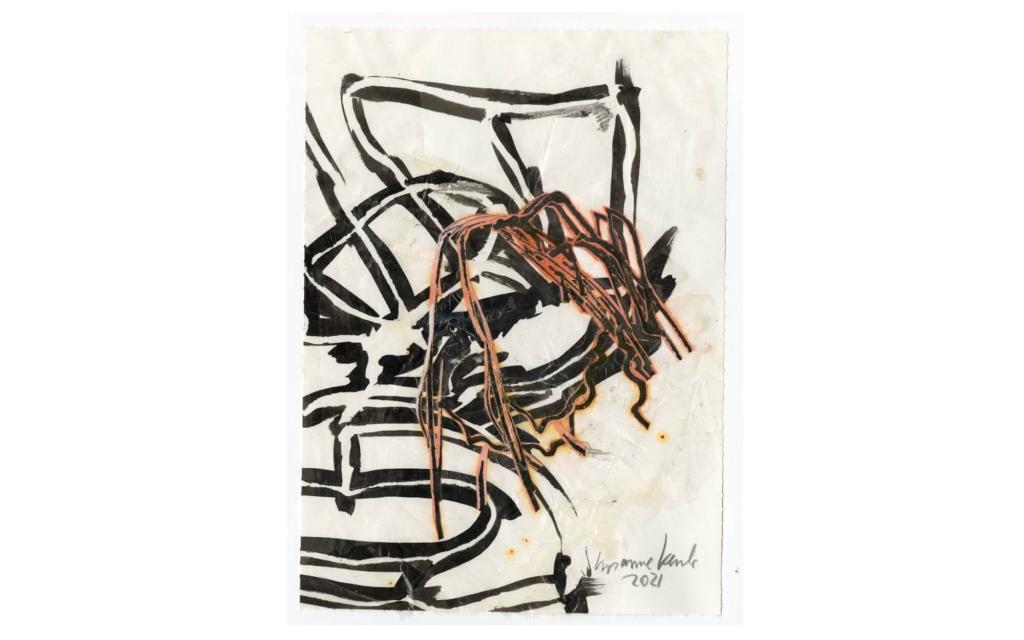 Susanne Kessler - Linien tanzend - Zeichnung 9/10