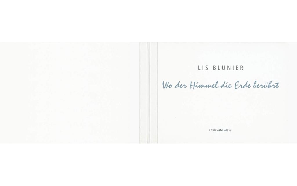 Umschlag: Lis Blunier - Wo der Himmel die Erde berührt