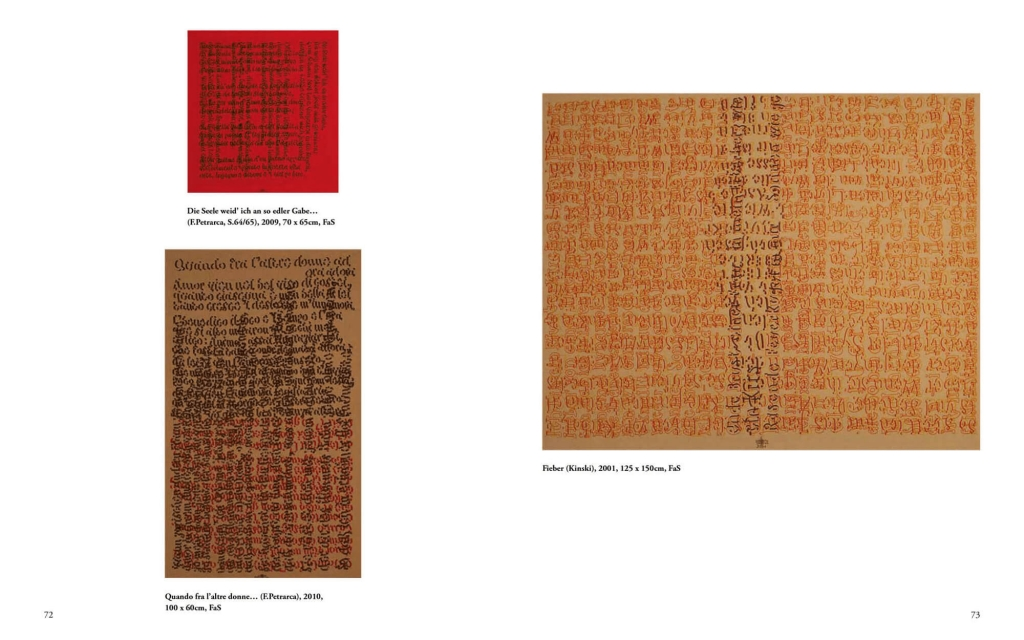 page view: Johann Manfred Kleber - Script pictures. Skriptural Art